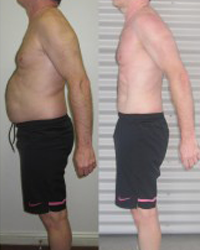 Before and after photo of male challenge winner Dave