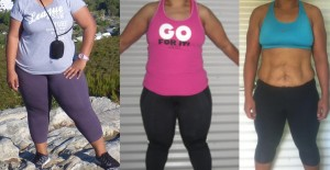 Before and after photo of challenge second runner up Fuli